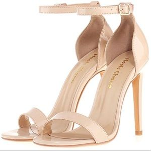 Shoes - BRAND NEW Nude Beige Patent PVC Sandals Heels